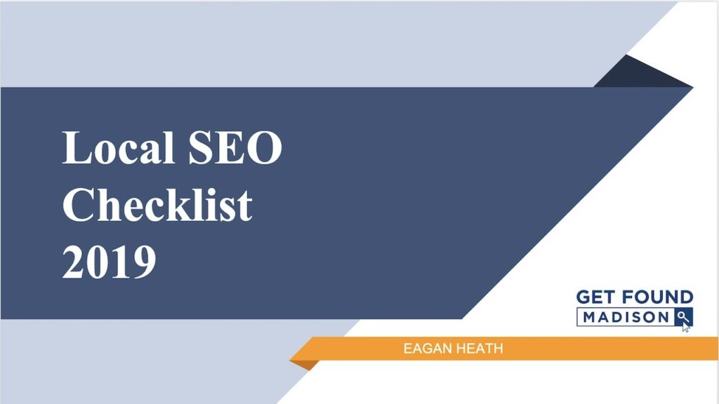 Local SEO Checklist 2019 - How to Get Found on Google