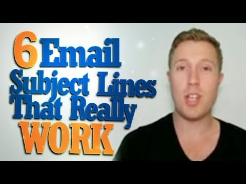 6 Email Subject Lines That Really Work