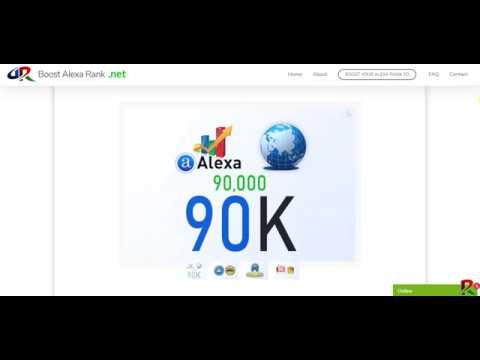 Boost Alexa Rank   We boost improve increase your Global Alexa rank to 90K