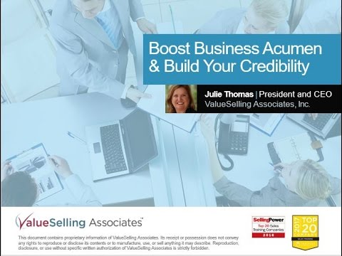 Boost Business Acumen & Build Your Credibility