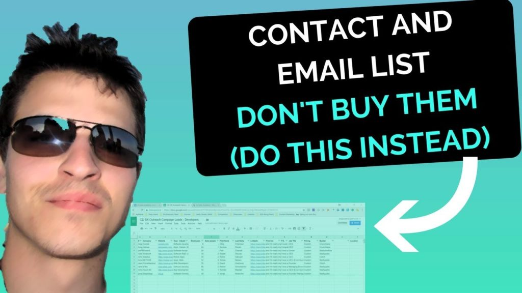 Contact and Email List - Don't Buy Them (do this instead)