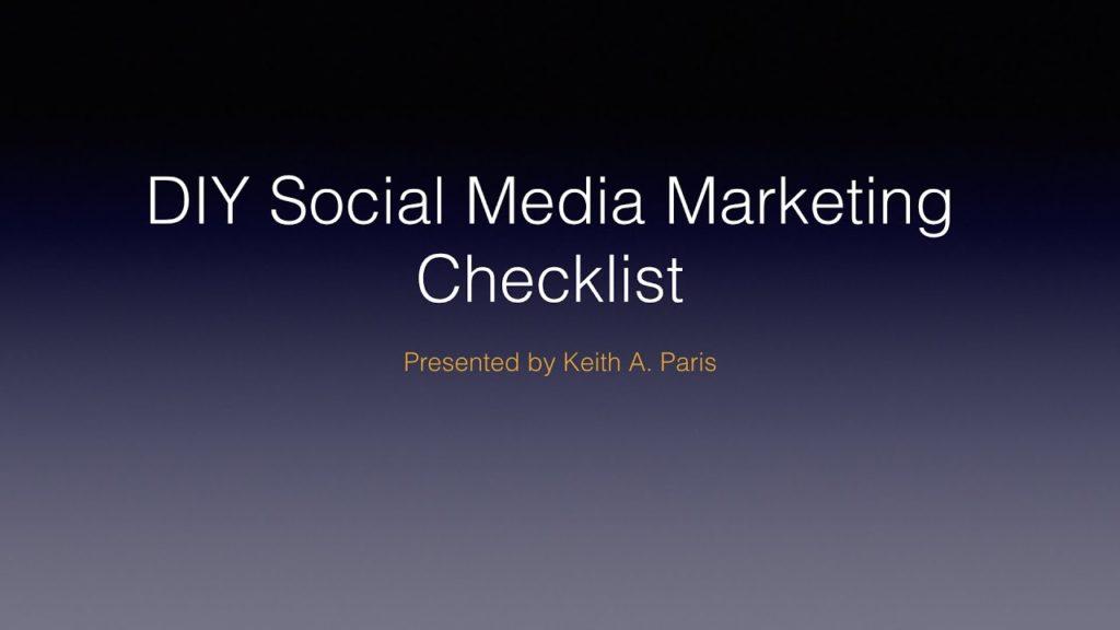 DIY Social Media Marketing Checklist