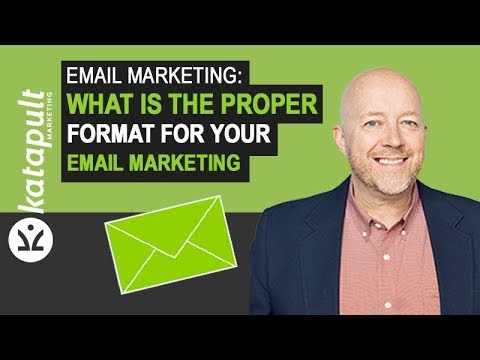 Email Marketing: What Is The Proper Format For Your Email Marketing