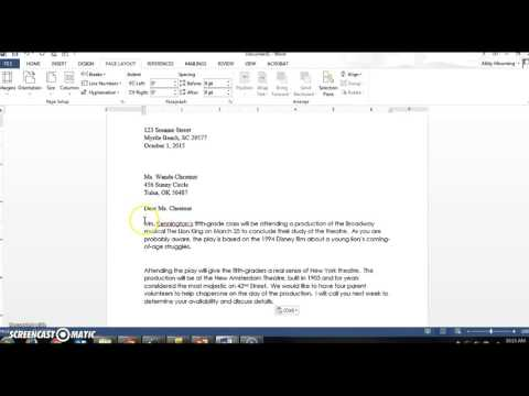 How to Setup Business Letters