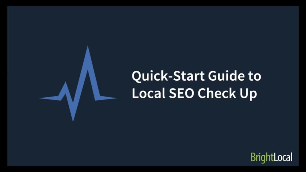 Local SEO Check Up - Overview