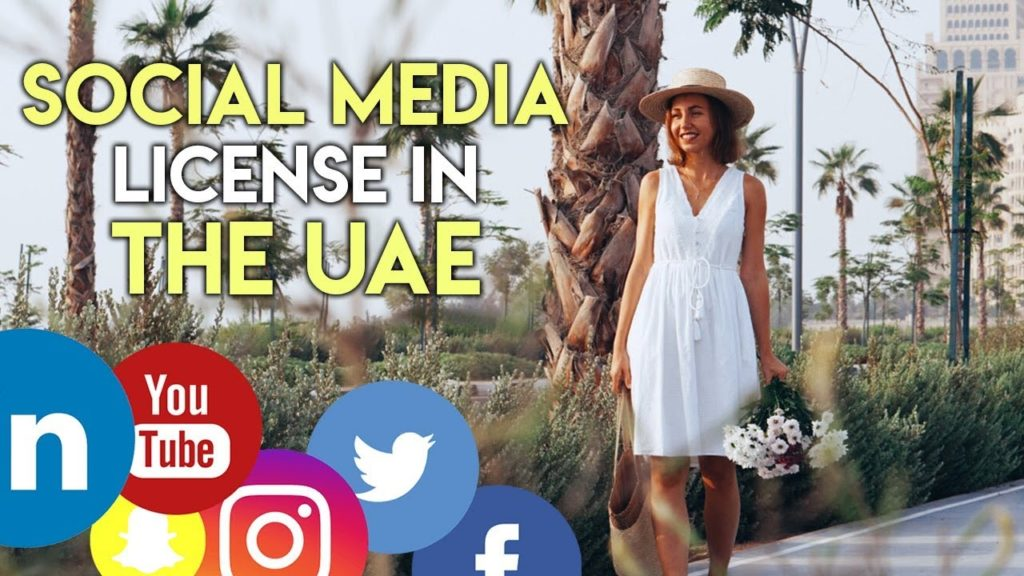 UAE social media influencer license. Business in Dubai.