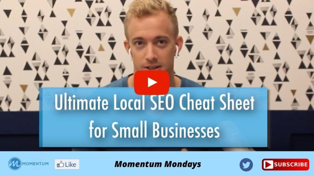 Ultimate Local SEO Cheat Sheet For Small Businesses Blog Video