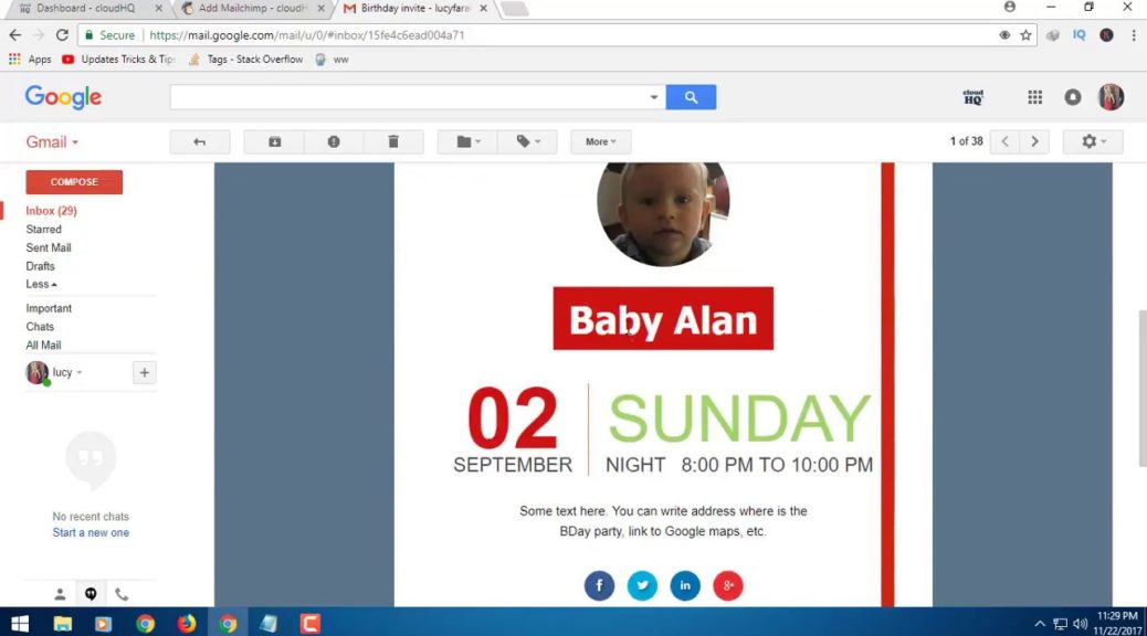 Use Free gmail templates to send your mail, be smart and cool.