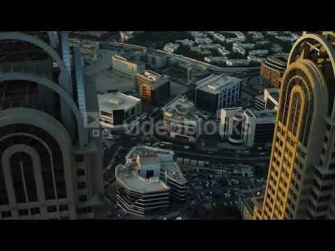 aerial dubai business central towers sheikh zayed road uae ek0oc5s6