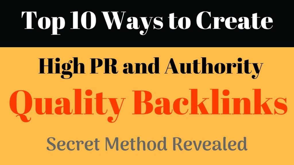 10 Ways to Create High Quality Backlink | Paid Method for Free