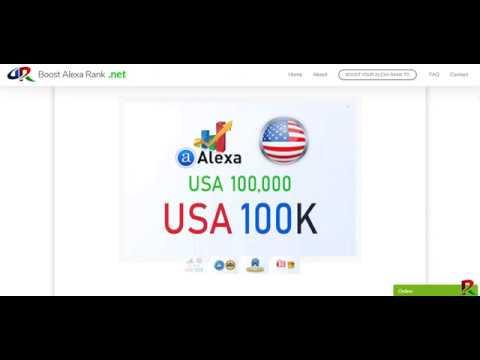 Boost Alexa Rank - We boost improve increase your USA Alexa rank to 100K