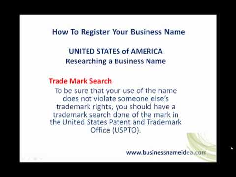 Business name search