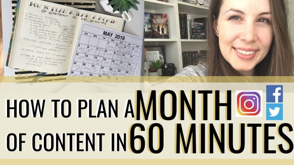 How to Plan a MONTH of Social Media Content in 60 Minutes (Instagram, Facebook, Twitter, etc!)