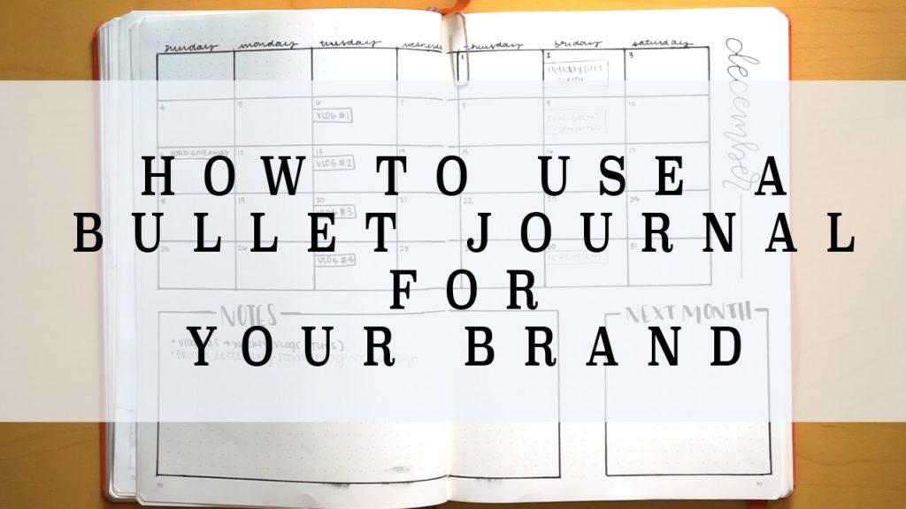 How to Use A Bullet Journal for Your Business | Blog Management Spread