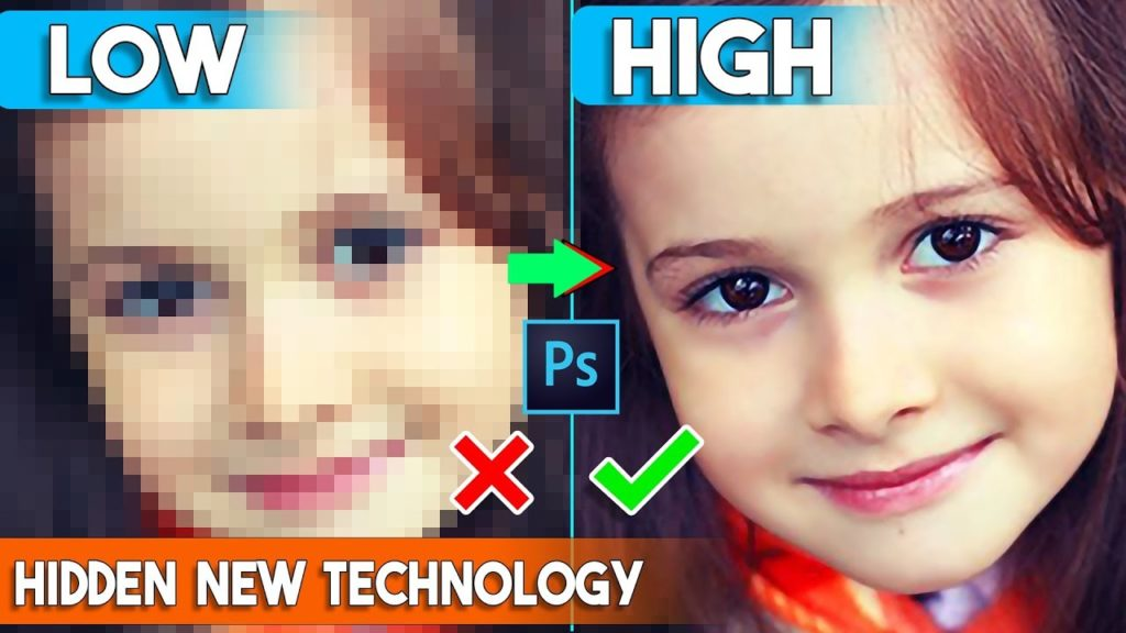 How to depixelate images and convert into High Quality photos Hidden Technology in Photoshop