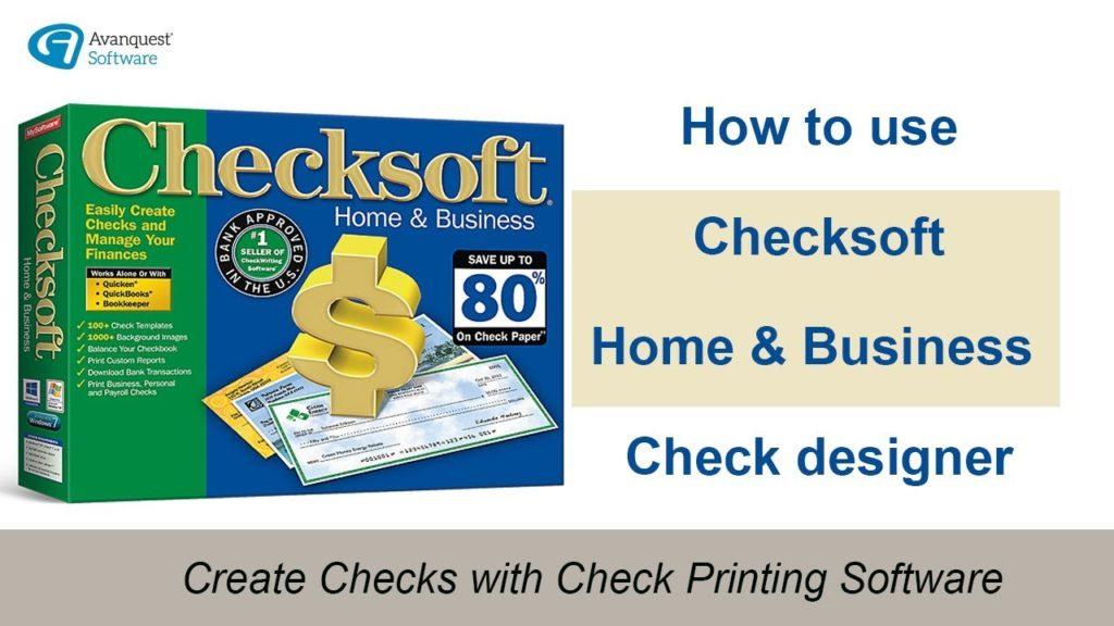How to use Checksoft Home & Business Check designer