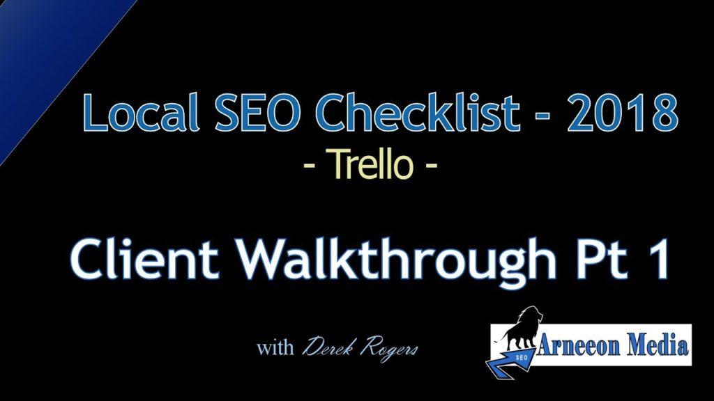 Local SEO Checklist 2018 - Client Walkthrough Part 1