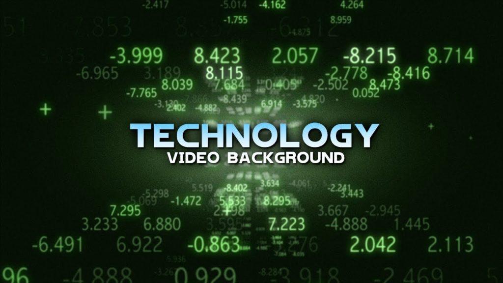 Moving Background Digital Technology Background