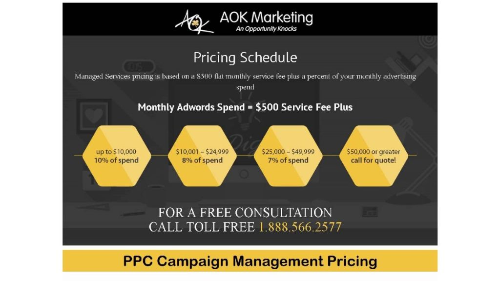 PPC Campaign Management Pricing - AOK Marketing