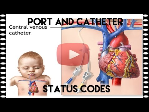 Port and Catheter Status Codes Medical Coding