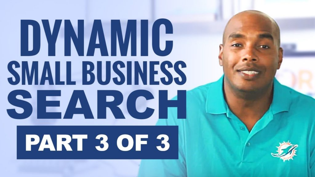 SAM.gov part 3 of 3 (SBA Profile) Dynamic Small Business Search - Eric Coffie