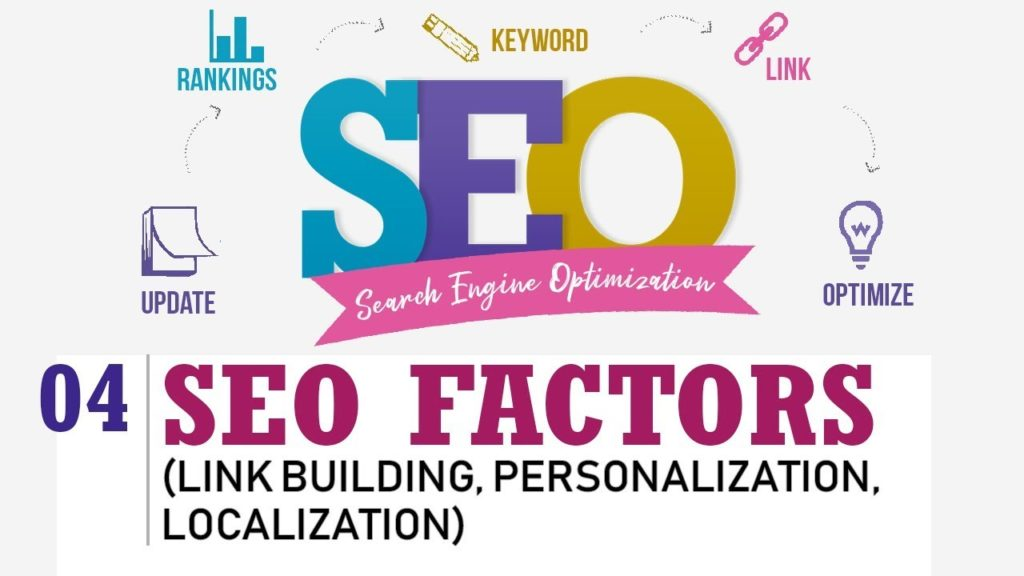 SEO Factors (Link Building, Personalization, Localization) - SEO By Nayan Bheda