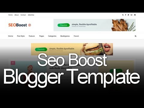 Seo Boost Blogger Template | VirtualTemplates