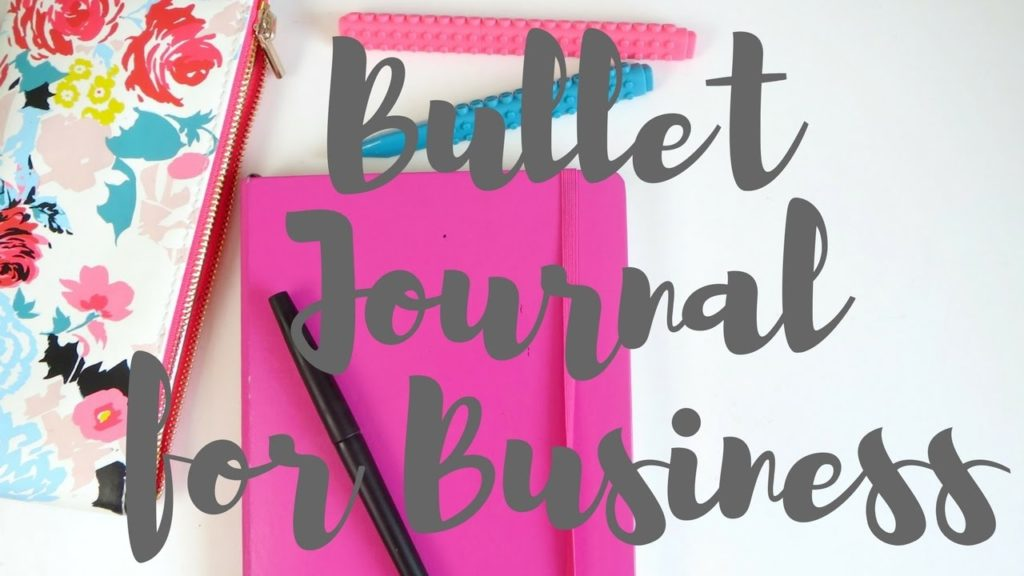 Starting a Bullet Journal for Business | January - March