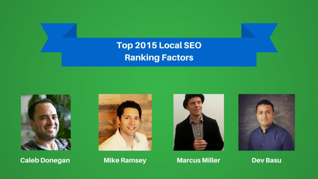 Top Local SEO Ranking Factors in 2015