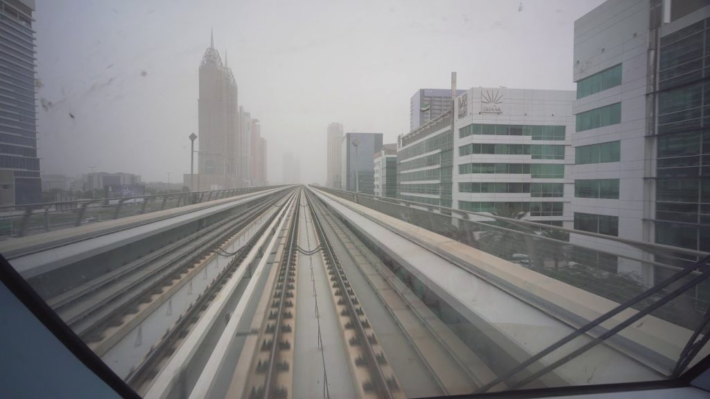 United Arab Emirates, Dubai, metro ride from DMCC to Business Bay