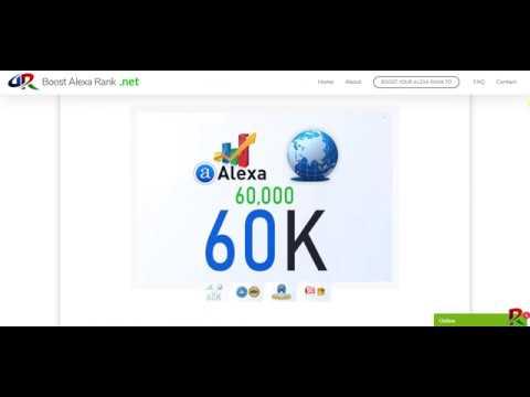 Boost Alexa Rank - We boost improve increase your Global Alexa rank to 60K