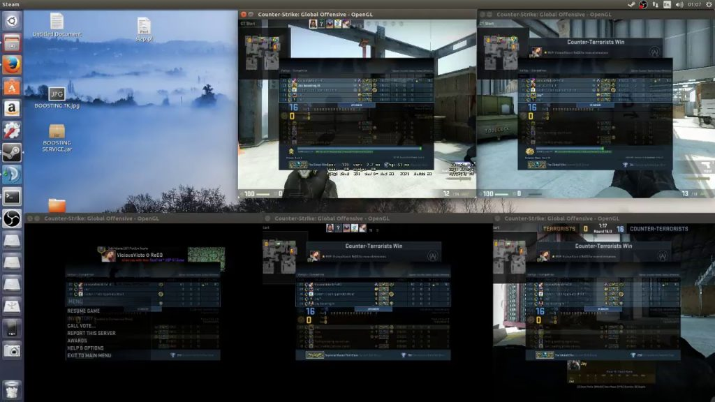 CSGO Boosting (enemy team made out of smurf accounts which are afk)