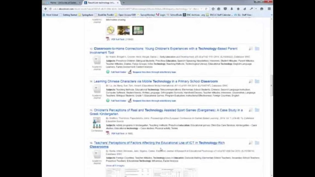 Finding Articles on Educational Technology