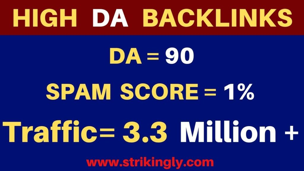 High DA Dofollow Web 2.0 Powerfull Backlinks | Web 2.0 submission for High DA Backlinks | Strikingly