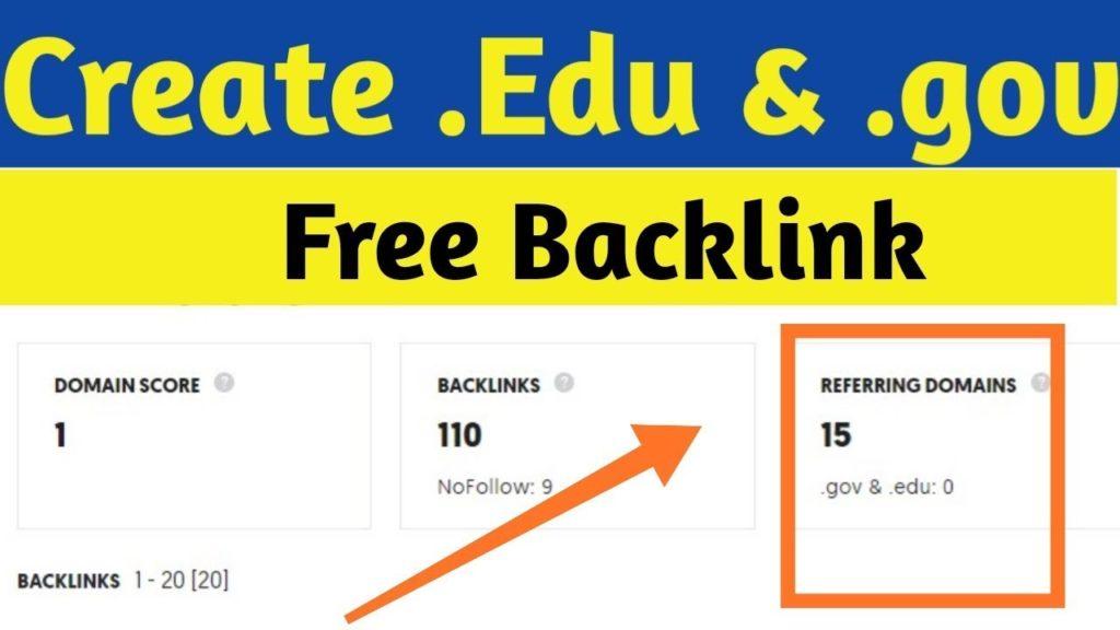 How to Create High DA .Edu & .gov Dofollow Backlinks for Website