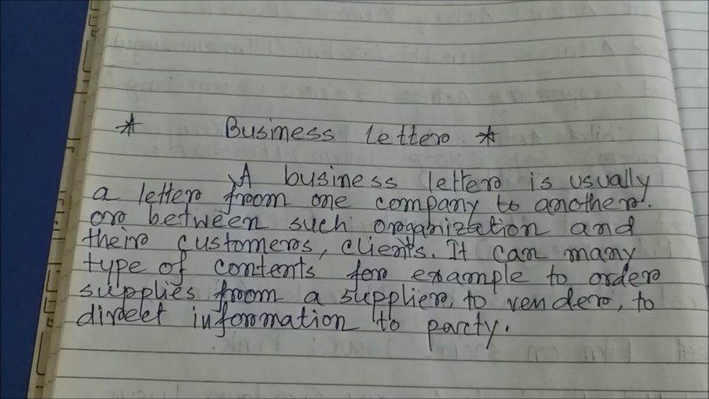 How to write business letter ? letter type   letter format