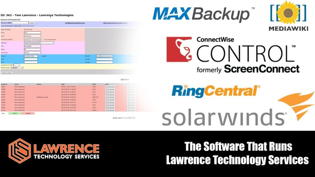 The Software That Runs the IT & Managed Services side of Lawrence Technology Services.