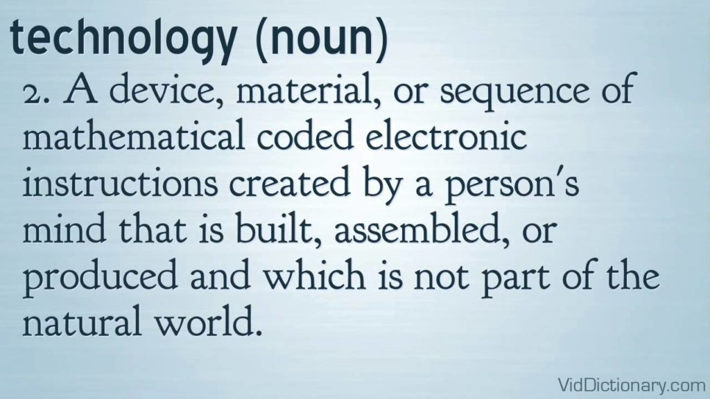 technology - definition