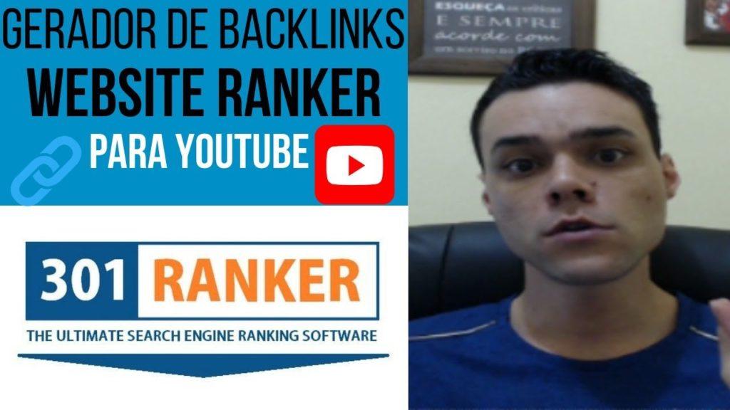 Gerador de Backlinks Website Ranker para Youtube